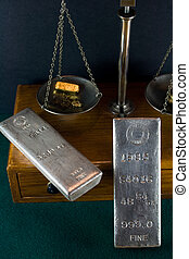 Homestake Mining Co Silver Bars - Two scarce Homestake...