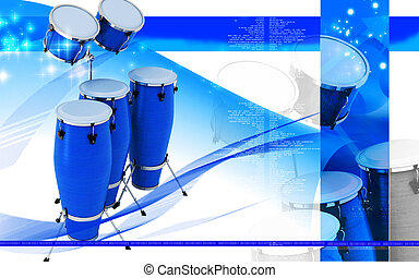 Congas toca - Digital illustration of Congas toca in colour...