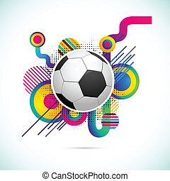 Soccer Ball - illustration of soccer ball on abstract...