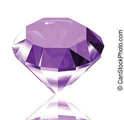 Violet diamond. Vector illustration - Violet diamond with...