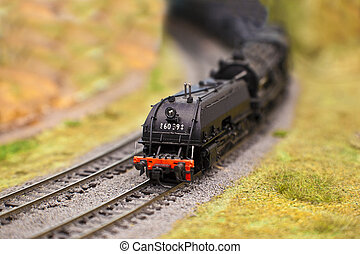 Model Train - Model train on the track