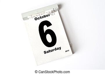 6. October 2012