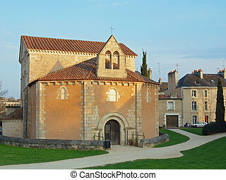 Saint John Baptistery, Poitiers, France - It is reputed to...