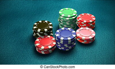 Casino 6 color of chips - The 3d rendering of difference...