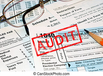 Tax audit - federal tax forms being audited