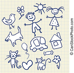 Childrens Scribbles Notebook