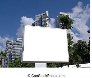 Large blank billboard in the City