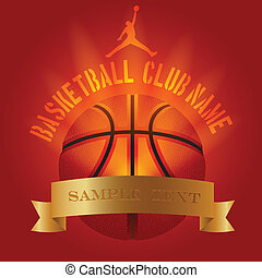 Basketball club decoration logo poster example - Basketball...