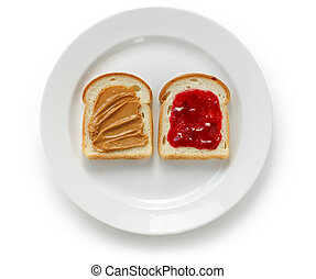 peanut butter and jelly sandwich - american favorite