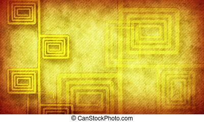 grunge flourish yellow loop