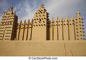 Djenne: African City of Mud - The big mosque in Djenne and...