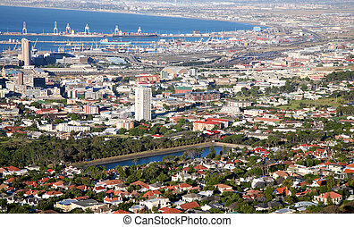 Cape Town, South Africa - View of the city of cape town in...