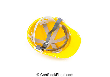 yellow hard hat inside - yellow hard hat from inside...