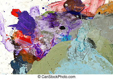 painters palette colorful background