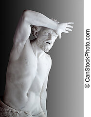 Agony of Cain - Marble statue of Agony of Cain from Bible....