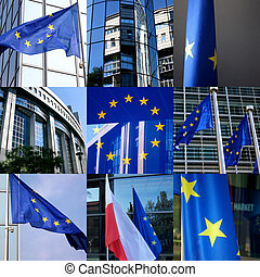 European composition - Composition of 9 images in a square...