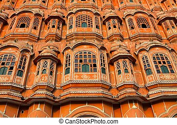 Hawa Mahal, the Palace of Winds, Jaipur, Rajasthan, India....