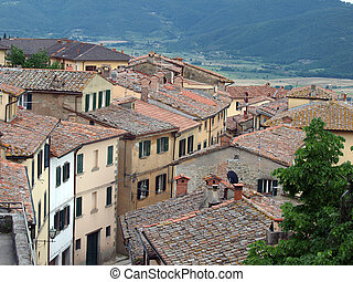 Cortona, the Tuscan town of Etruscan origin