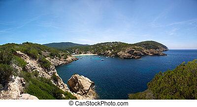 Ibiza mediterranean coast line