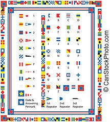 Nautical Flags and Bord - Complete Set of nautical flags and...