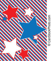 EPS8 Vector Patriotic Star Backgrou - EPS8 Vector Red, White...
