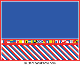 EPS8 Vector Nautical Flag Border - EPS8 Vector red, white...