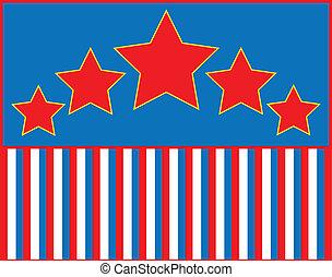 EPS8 Vector Red White Blue Star Str