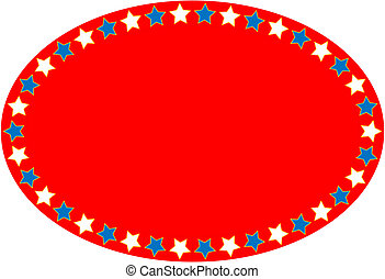 Red White Blue Oval Sta - Oval red, white and blue...