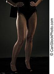 beau, jambes, femme