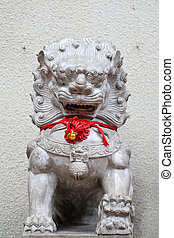 Chinese Imperial Lion, also called Guardian Lion, are a...