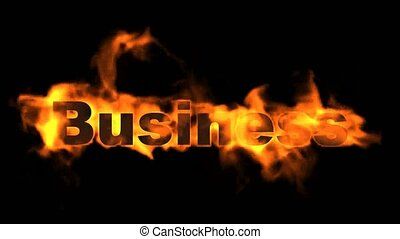 burning business word.