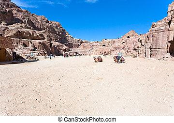 panorama of Street of Facades, Petra