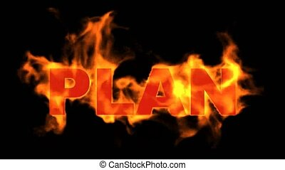 burning plan word,business fire key