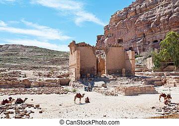 Temple of Dushares and Unfinished Tomb in Petra