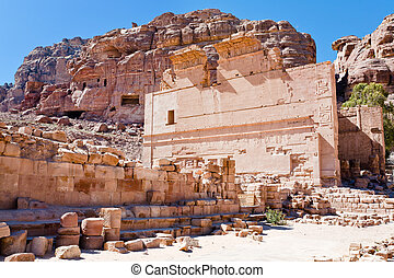altar of Temple of Dushares in Petra