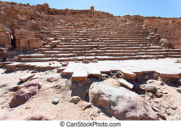 steps of antique Great Temple in Petra
