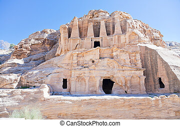 The Obelisk Tomb and Bab as-Siq Triclinium in Petra, Jordan