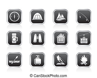 travel, Tourism and vacation icons - travel, Tourism,...