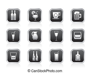 different kind of drink icons
