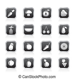 Different kinds of fruits icons
