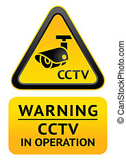 Notice Video Surveillance symbol - Warning Sticker for...