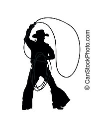 cowboy, Vector, Silhouettes
