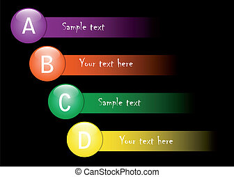 ABCD choice - the ball to offer a choice strip of
