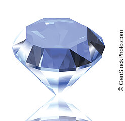 Blue diamond. Vector illustration - Blue diamond with...