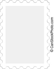 blank stamp - illustration of a blank stamp, isolated on...