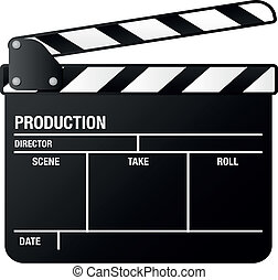 clapper board - illustration of a clapper board, symbol for...