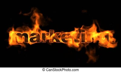 marketing,burning business key word.