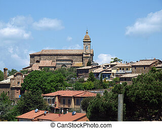 Medieval Town In Montalcino Tuscany, Italy