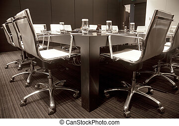 Business meeting room in office with modern decoration