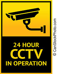 Sign security camera - Warning Sticker for Security Alarm...